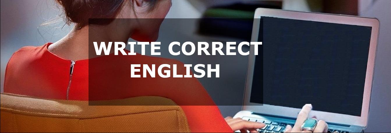 Write Correct English