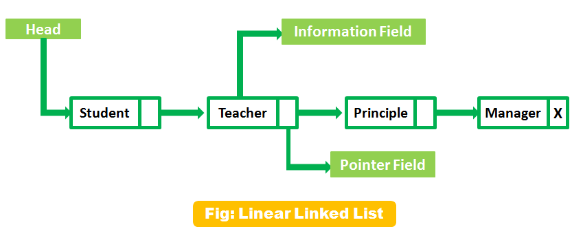 Classification of Data Structure with Diagram   Linear Linked List