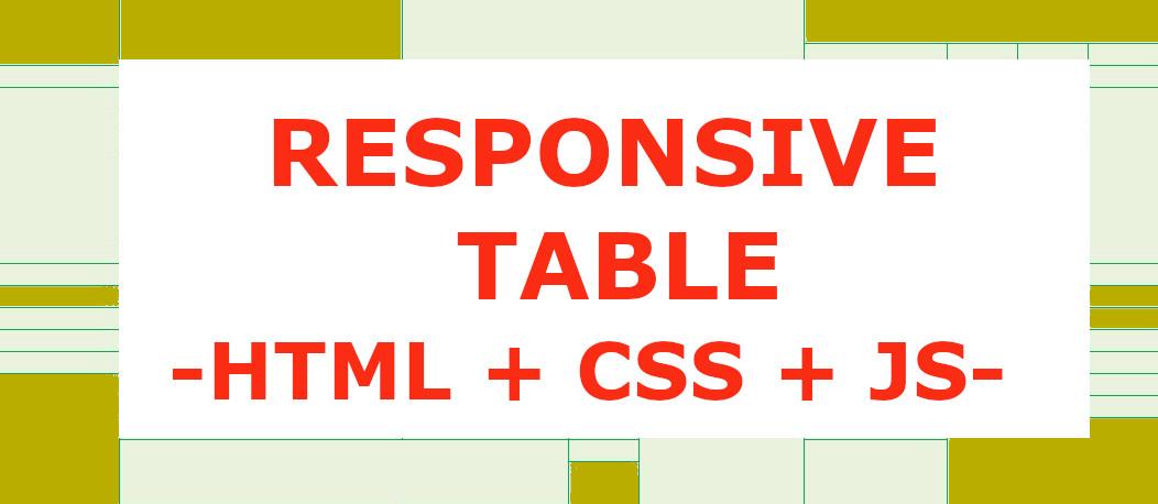 CSS Responsive Table