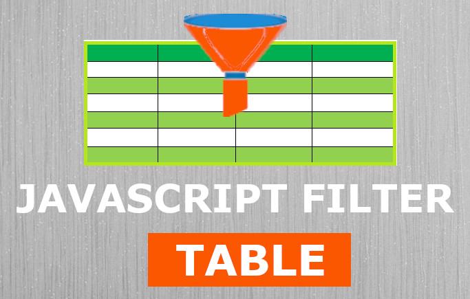 JavaScript Table Filter