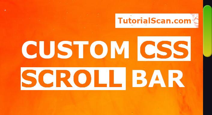 custom css scrollbar
