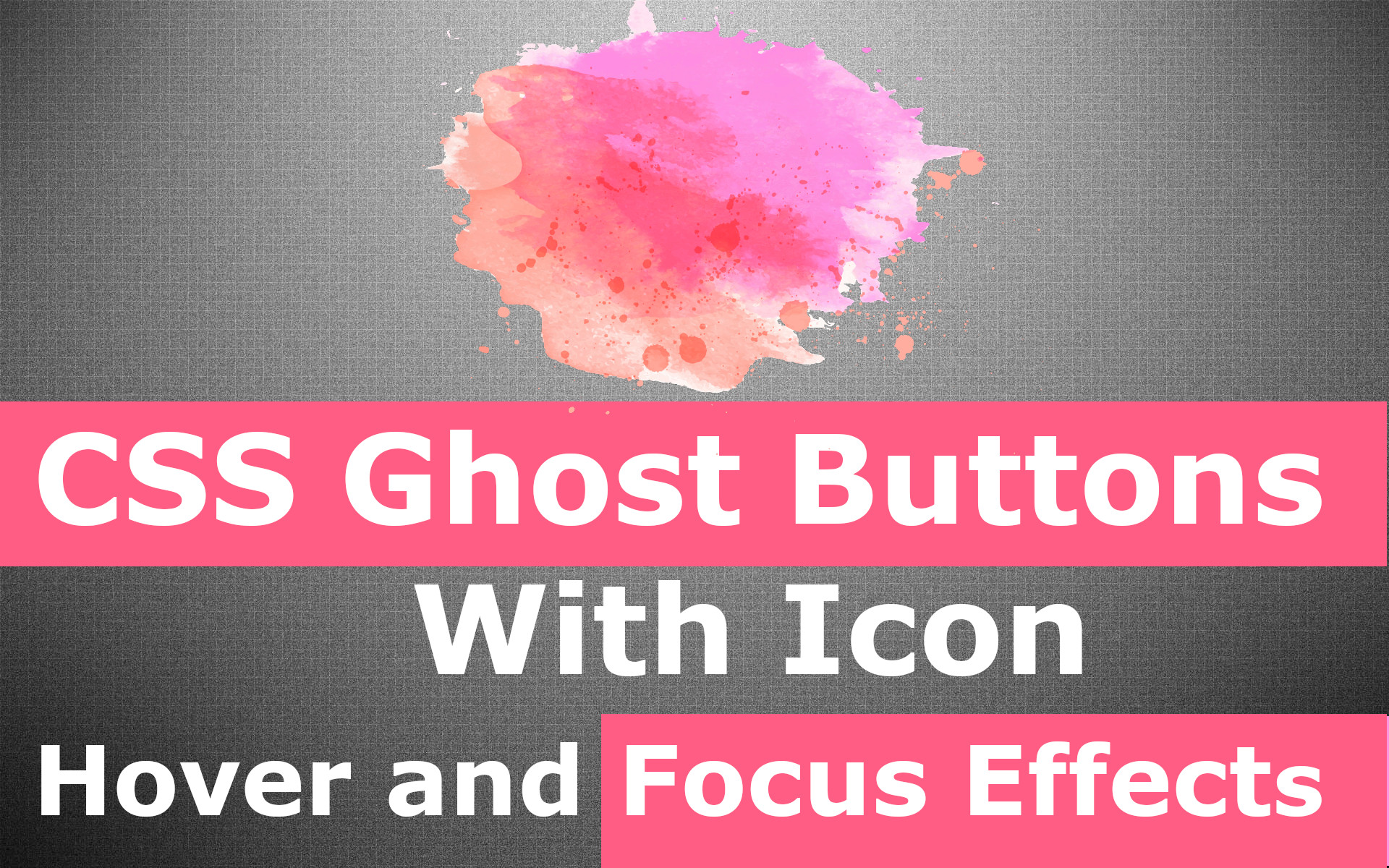 Ghost Buttons With Icon