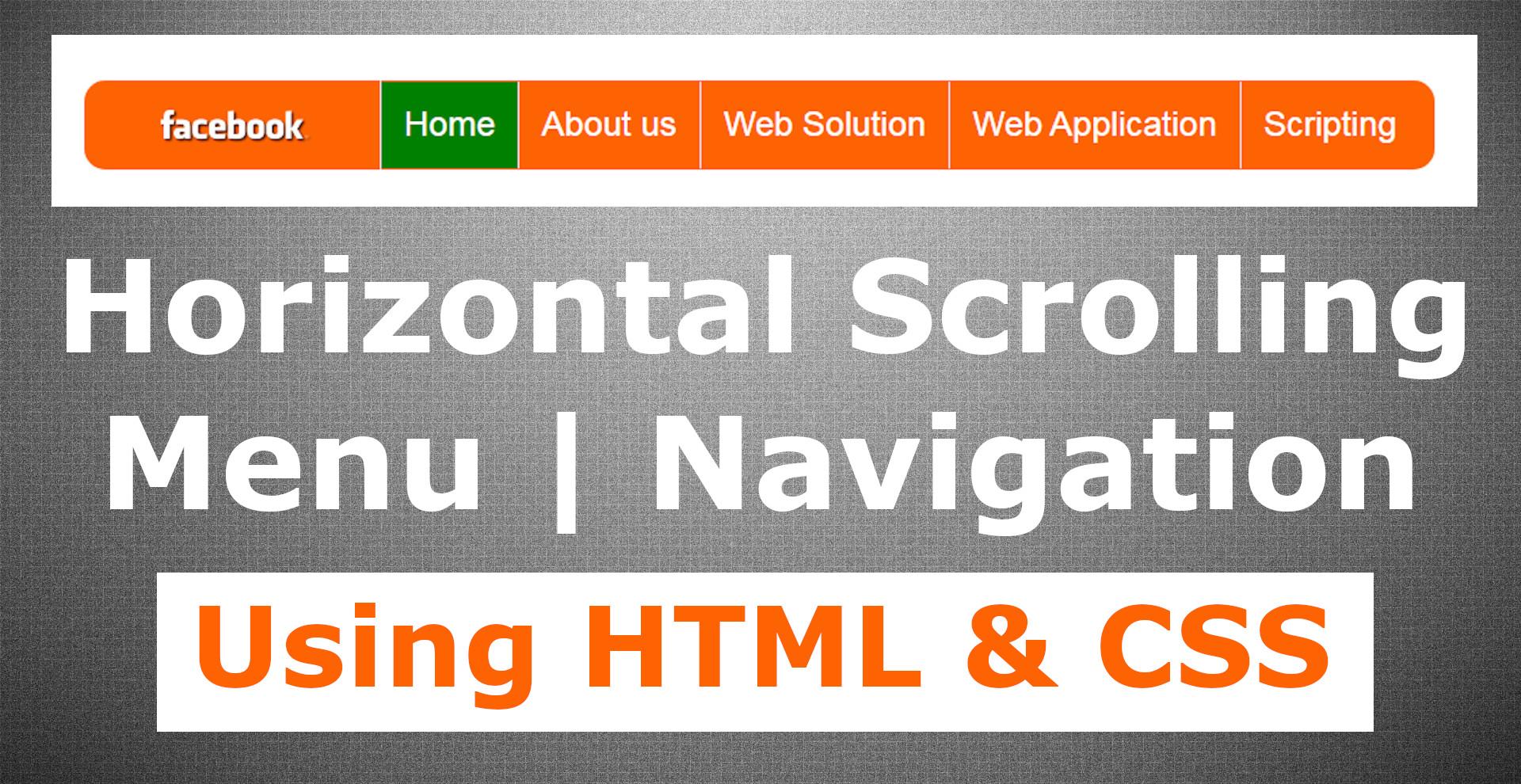 Horizontal Scrolling Navigation