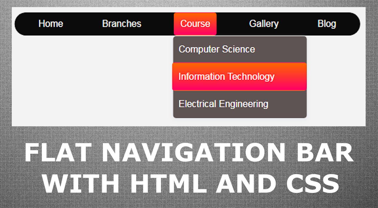 CSS Flat Navigation Bar
